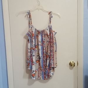 Status XL Floral Shirt Off The Shoulder With Strap